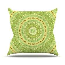 Wheel of Spring by Iris Lehnhardt Circle Throw Pillow