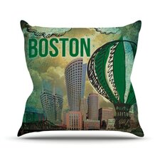 Boston Outdoor Throw Pillow