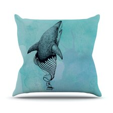 Shark Record III by Graham Curran Throw Pillow