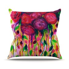 Roses by Ebi Emporium Throw Pillow