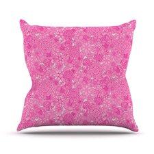 Welcome Birds To My Pink Garden Outdoor Throw Pillow