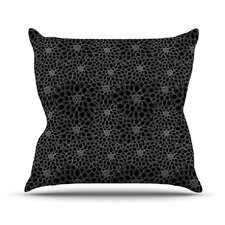 Flowers by Julia Grifol Dark Floral Throw Pillow