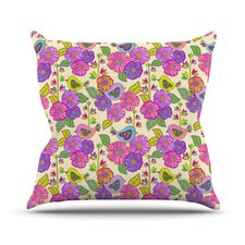 My Birds and My Flowers by Julia Grifol Throw Pillow