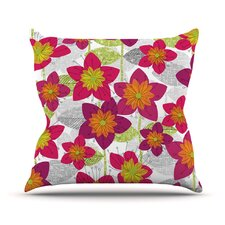 Star Flower by Jacqueline Milton Floral Throw Pillow