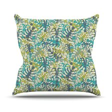 Tropical Leaves by Julia Grifol Throw Pillow