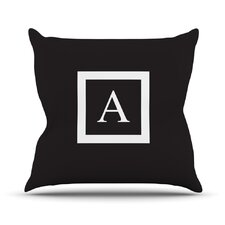 Monogram Solid Throw Pillow