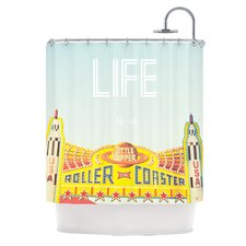 Life Is A Rollercoaster Polyester Shower Curtain