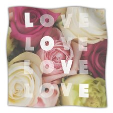Love Love Love Microfiber Fleece Throw Blanket