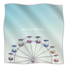 Dont Stop Believing Microfiber Fleece Throw Blanket