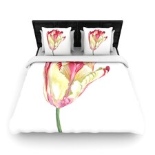 Red Tip Tulip Duvet Cover Collection