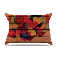 Wooden Heart Pillow Case