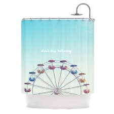 Dont Stop Believing Polyester Shower Curtain