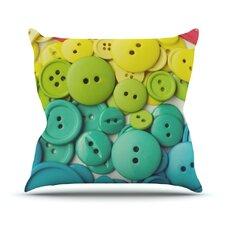 Cute as a Button Outdoor Throw Pillow