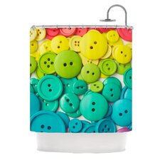 Cute As A Button Polyester Shower Curtain