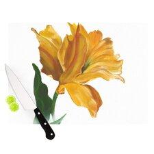 Yellow Tulip Cutting Board