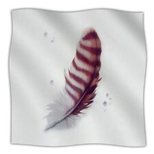 The Feather Microfiber Fleece Throw Blanket
