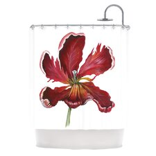 Open Tulip Polyester Shower Curtain