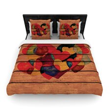 Wooden Heart Duvet Cover Collection