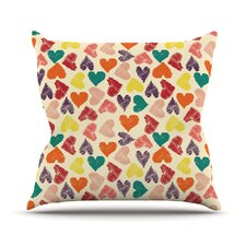 Little Hearts Throw Pillow