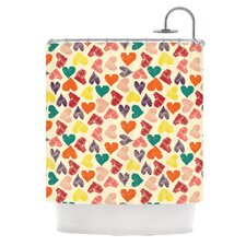 Little Hearts Polyester Shower Curtain