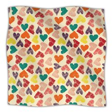 Little Hearts Microfiber Fleece Throw Blanket