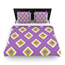 Purple Splash Tile Duvet Cover