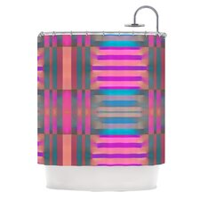 Tracking Polyester Shower Curtain