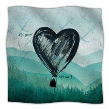 Heart Set Sail Microfiber Fleece Throw Blanket