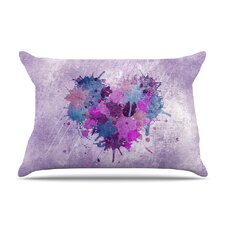 Painted Heart Pillow Case
