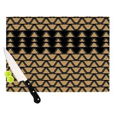 Deco Angles Gold Black Cutting Board