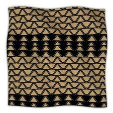 Deco Angles Gold Black Microfiber Fleece Throw Blanket