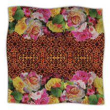 New Rose Eleo Microfiber Fleece Throw Blanket
