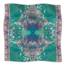Ashby Blossom Teal Microfiber Fleece Throw Blanket