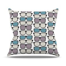 Spectacles Geek Chic Throw Pillow