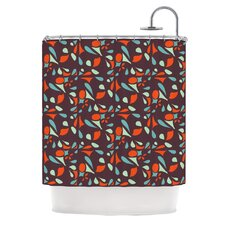 Retro Tile Polyester Shower Curtain