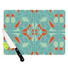 Seafoam And Orange Cutting Board