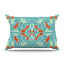 Seafoam And Orange Pillow Case