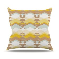 Retro Desert Throw Pillow