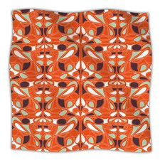 Orange Swirl Kiss Microfiber Fleece Throw Blanket