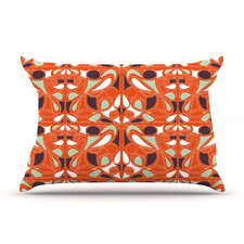 Orange Swirl Kiss Pillow Case