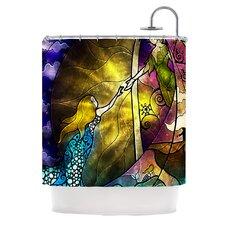 Fairy Tale Off to Neverland Polyester Shower Curtain