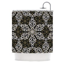 Ethnical Snowflakes Polyester Shower Curtain