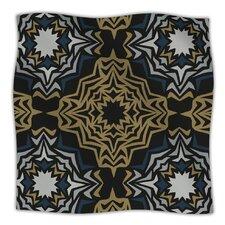Golden Fractals Microfiber Fleece Throw Blanket