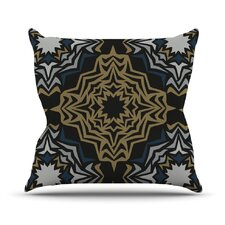 Golden Fractals Throw Pillow