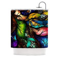Sleep and Awake Polyester Shower Curtain