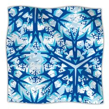 Winter Mountains Microfiber Fleece Throw Blanket