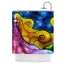 Starry Lights Polyester Shower Curtain