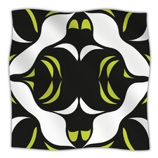 Green White Jaws Microfiber Fleece Throw Blanket