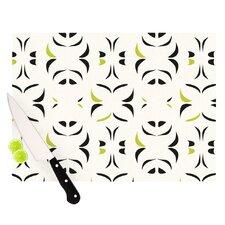 Retro Green Snow Storm Cutting Board