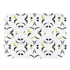 Retro Green Snow Storm Placemat